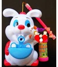 กระต่ายเป่าฟองสบู่อัตโนมัติ...พร้อมเสียงดนตรี...น่ารักน่าใช้สุดสุด