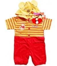 ชุดแฟนซี...หมีขาสั้น...สีเหลืองแดงหมีพูห์ Pooh น่ารักน่าใช้สุดสุด Size S , M , L