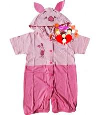 ชุดแฟนซี...หมีขาสั้น...สีชมพูเข้มอ่อนหมูน้อย Piglet น่ารักน่าใช้สุดสุด Size M, L
