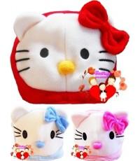 หมวกแฟนซี...สีแดง..สีฟ้า..สีชมพู Kitty น่ารักน่าใช้สุดสุด...จ้า (มีให้เลือก 3 สี) Free Size