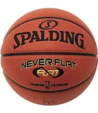 บาสเก็ตบอล Spalding Never Flat Basketball Size 7 In+Out