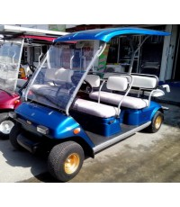 รถกอล์ฟ YAMAHA Turfjoy มือสองญี่ปุ่น 6 ที่นั่ง สีน้ำเงินใหม่ เบาะใหม่