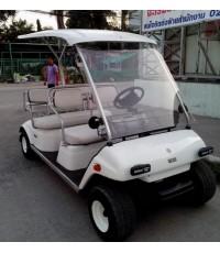 รถกอล์ฟ YAMAHA Turfjoy มือสองญี่ปุ่น 6 ที่นั่ง ทำสีขาวใหม่ เบาะใหม่