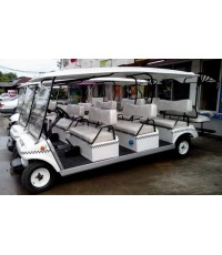 รถกอล์ฟไฟฟ้าโซล่าเซลล์ Club Car 8 ที่นั่ง มือสอง บูรณะใหม่ทั้งคัน