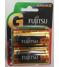 ถ่านอัลคาไลน์ Fujitsu LR20G ขนาด D 1.5V แพค 2 ก้อน made in japan