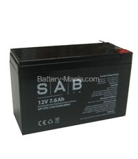 SLA Battery UP1276 SAB 12V 7.6AH