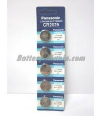 ถ่านกระดุม Panasonic CR2025 pack 5 ก้อน ซื้อเป็น pack คุ้มกว่าเห็น ๆ