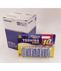 ถ่านอัลคาไลน์ AA แพ็ค 10 ก้อน Toshiba Alkaline Blueline LR6BP10 1 กล่อง