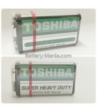 ถ่านคาร์บอนซิงค์ 9V Toshiba Super Heavy Duty 1 ก้อน