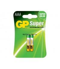 ถ่านอัลคาไลน์ GP BATTERIES รุ่น GP25A-2U2 AAAA แพค 2 ก้อน