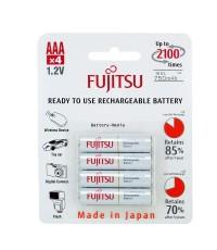 ถ่านชาร์จ AAA 800 mAh (แพ็ค4ก้อน) ขาว Fujitsu HR-4UTCEX