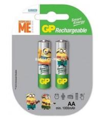GP Smart Energy AA 1000 mAH pack 2 ก้อน minions limited edition