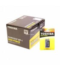 ถ่านอัลคาไลน์ 9V แพ็ค 1 ก้อน Toshiba Alkaline High Power 6LR61GCP BP-1 1 กล่อง