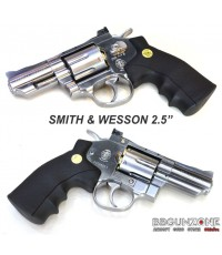 WinGun Revolver ลูกโม่ 2.5 นิ้ว 708 Co2 Chrome สมิธ แอนด์ เวสสัน