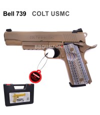 Bell 739 M1911 Colt USMC TAN
