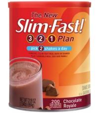 Slim Fast Chocolate Royale 364g. โปรตีนช็อคโกแล็ต ควบคุมน้ำหนักและความหิวค่ะ