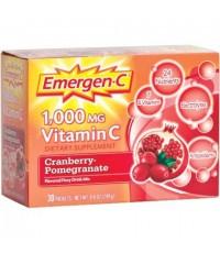 Pre Order ลงเรือ : Emergen-C Cranberry Pomegranate Vitamin C Fizzy Drink Mix 1000mg, 30 ซอง
