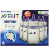 พร้อมส่ง**Philips Avent BPA Free Classic Polypropylene Bottle Opaque 9 Ounce 5 Count