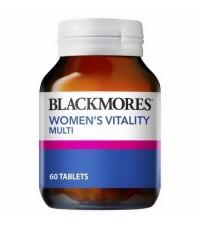 Blackmores Womens Vitality Multi 60 เม็ด  เพิ่มความสดใสให้กับไลฟสไตล์ของคุณผู้หญิง โดยการช่วยเติมสาร