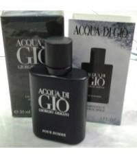 น้ำหอมเทสเตอร์ Giorgio Armani Acqua Di Gio Homme EDT 30ml.สีดำเข้มหอมนุ่มลึก