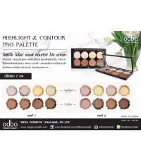 ODBO highlight  contour pro palette คอนทัวร์เฉดดิ้งเนื้อแป้ง
