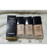รองพื้นChanel Perfection Lumiere Long Wear Flawless fluid makeup 30ml.มีกล่อง พร้อมส่งเบอร์ 20,22