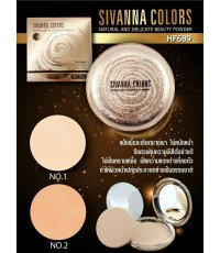 Sivanna Natural and Delicate beauty powder (HF689) แป้งพัฟคุมมันเนื้อเนียน
