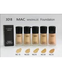 รองพื้น mac mineralize moisture spf15 foundation 30ml.มี 5 เบอร์ค่ะ