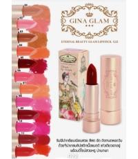 Gina glam LipStick G22 ลิปสติกสีสวยหวานของแท้ BY Sivanna