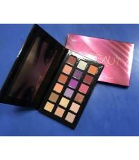 HUDA 18 Color Eyeshadow Palette   อายแชโดว์ 18 สีแฟชั่น เนื้อแมท์และประกาย ตลับแดง