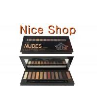 อายแชโดว์เนื้อฝุ่น Nice shop  eye shadow collection ทาตา 12 สีสัน สี NUDES