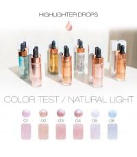 nee cara highlighter drop n213 พร้อมส่งทั้ง 4 สี ไฮไลท์เนื้อน้ำเกลี่ยง่าย 15ml.