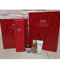 SK-II ชุดผลิตภัณฑ์ดูแลผิวหน้า Pitera facial Set 5pcs.ชุดน้ำตบขวดแดงใหญ่พร้อมขนาดทดลอง 4 ชิ้น