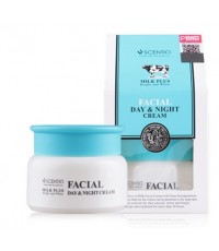 Beauty Buffet Scentio Milk Plus Bright And White Facial Day  Night Cream 50ml. ครีมน้ำนมบำรุงผิว