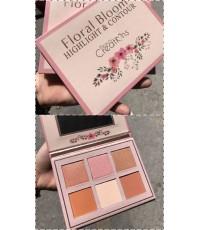 Beauty creations FLORAL BLOOM HIGHLIGHT  CONTOUR KITพาเลทคอนทัวร์ไฮไลท์ 6สีสันสวยคุ้มค่า