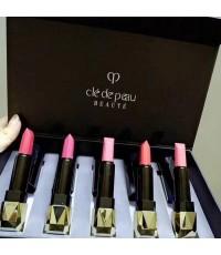 Cle de peau BEAUTE Extra Rich Lipstick ลิปสติกเนื้อซาตินเนียนนุ่มหรูหรา แพคกล่อง 5 สีสัน
