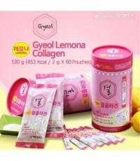 LEMONA Gyeol Collagen 1 กล่อง 60 ซอง คอลลาเจนของแท้สุดเข้มข้น ผสมของ Vitamin C 120 mg. รสเลมอน