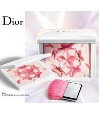 Diorsnow BLUSH \'N\' BLOOM Palette Rosy Glow Powder Face Cheek ไซค์จริงมีกล่องงานสวยตามภาพถ่ายเลยค่ะ