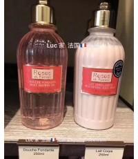 L'Occitane fleurs de cerisier cherry blossom Set Shower Gel,Shimmer Lotionเซตคู่โลชั่น+อาบน้ำ