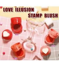 Sivanna colors Love illusion stamp blush hf4021  ปัดแก้มบลัชออนเนื้อครีม รูปแบบคูชั่นพัฟหัวใจน่ารัก