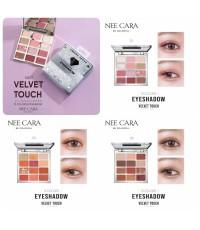 Nee cara N407 Velvet touch silverdiamond 12 colors eyeshadow  พาเลทตลับประกายเพรชหรูหราไฮโซ