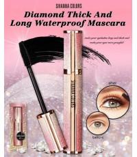 Sivanna Colors diamond Think and long waterproof mascara HF4023 มาสคาร่าแพคเกจเพรชประกายไฮโซสวยงาม