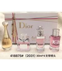 น้ำหอมเทสเตอร์หัวฉีดสำหรับผู้หญิง Gift Set Dior Perfume For Women 30ml.x4 ชิ้น แพคกล่องของขวัญสวยหรู