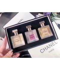 น้ำหอมเทสเตอร์หัวฉีด Chanel Collection tester set กิ๊ฟเซ็ท 30ml.×3ชิ้นแพคกล่องของขวัญสวยหรู