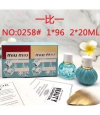 น้ำหอมเทสเตอร์เซต Miu Miu Eau de Parfum และ L\'Eau Bleue Fragrance Duo, 2 x 20ml. (ขวดสเปรย์)