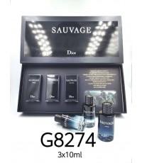 น้ำหอมผู้ชายขนาดทดลอง Dior Sauvage tester  10ml.×3pcs (หัวแต้ม) 3 แบบ