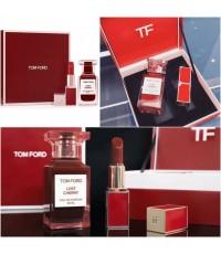 ชุดน้ำหอม+ลิปสีแดงก่ำ TomFord (limited edition) Lost Cherry perfume 50ml + lipstick gift set