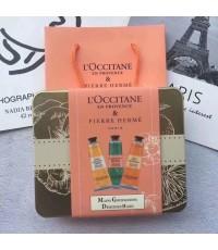 L\'Occitane Pierre Herme Hand Cream Trio ทามือ3 กลิ่น  พร้อมถุง ถ่ายจากสินค้าจริง
