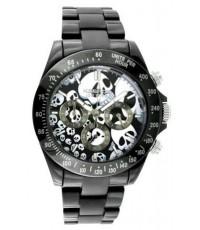**Pre-Order**นาฬิกาข้อมือ K&BROS รุ่น Ice-Time Skull Chronograph Watch สายเหล็ก หน้าปัดลายกระโหล