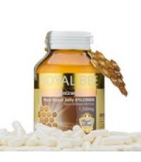 นมผึ้งรอยัลบี Royal bee maxi royal jelly 6 10HDA 1500mg ขนาด 60 เม็ด